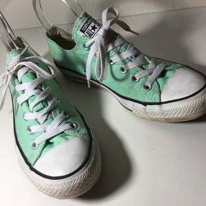 Converse Shoes - Converse sea foam green size 8 ankle all stars 4005be241